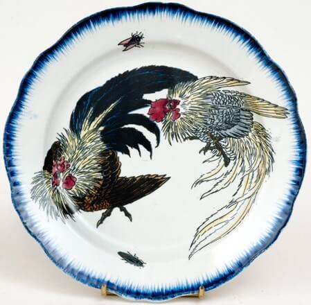 a plate made by an artist affected by Ukiyo-e