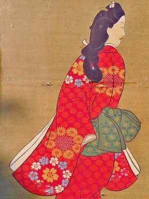 Ukiyo-e Japanese woodblock print by Moronobu Hishikawa, details