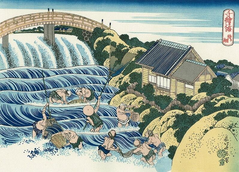 Ukiyo-e Japanese woodblock print by Katsushika Hokusai