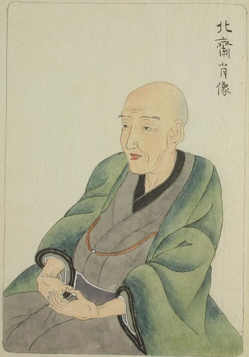 self-drawing of Hokusai Katsushika