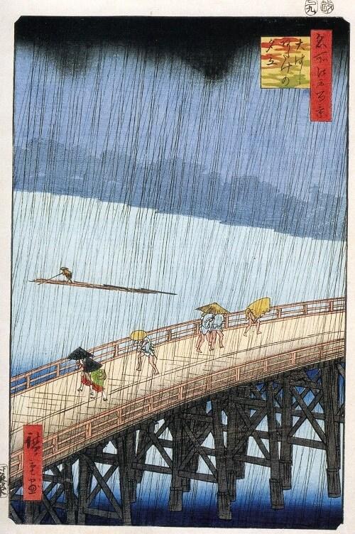 Ukiyo-e, landscape by Utagawa Hiroshige, Tokaido
