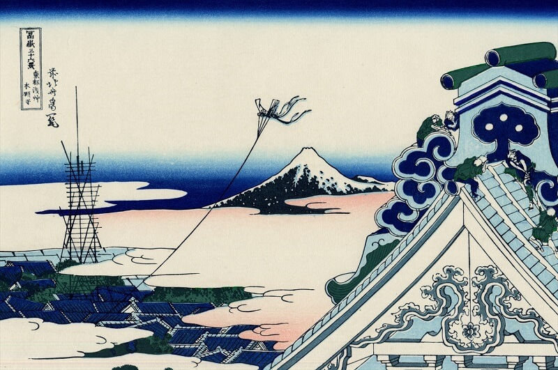 Ukiyo-e, Japanese woodblock print, Mount Fuji by Hokusai