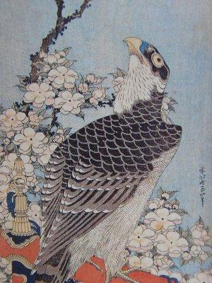 Ukiyo-e, Japanese woodblock print, bird-and-flower paint by Katsushika Hokusai