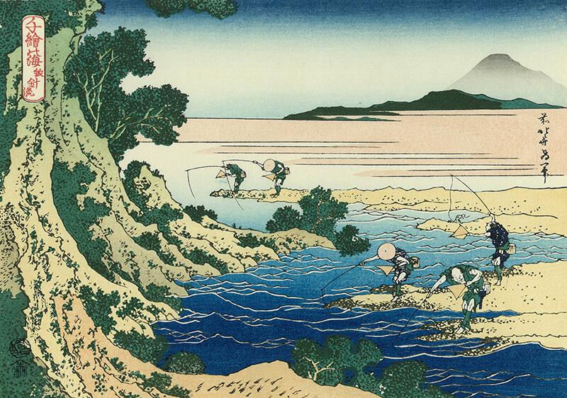 Ukiyo-e, Japanese woodblock print, landscape by Hokusai
